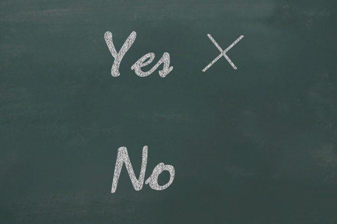 yes, no, checklist