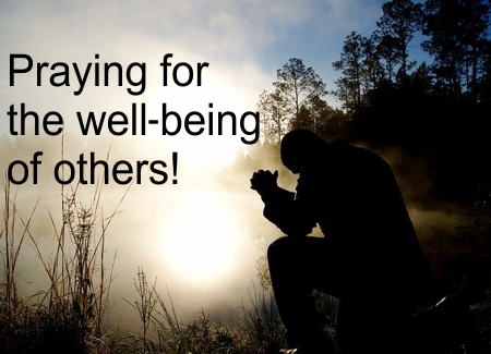 Praying for the well-being of others